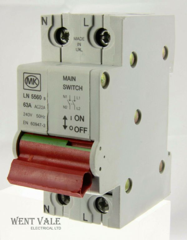 MK Sentry - LN5560s - 63a Double Pole Switch Disconnector Unused